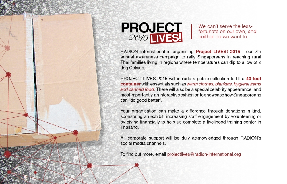 Project LIVES - Call For Support